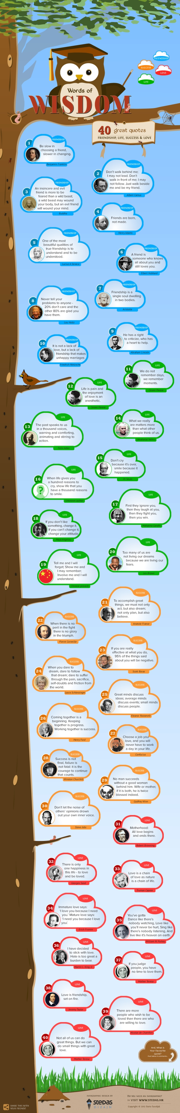 INFOGRAPHIC: Great Quotes about Friendship, Life, Success & Love